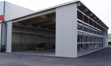 hall autoportant pour extension de batiment